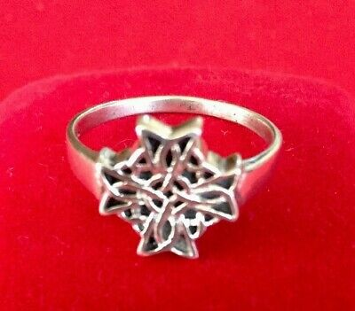 1940s Jewelry Styles and History VTG.1940s PSCL Celtic STERLING SILVER RING 9.75 Restored Sign & Stamped $35.00 AT vintagedancer.com