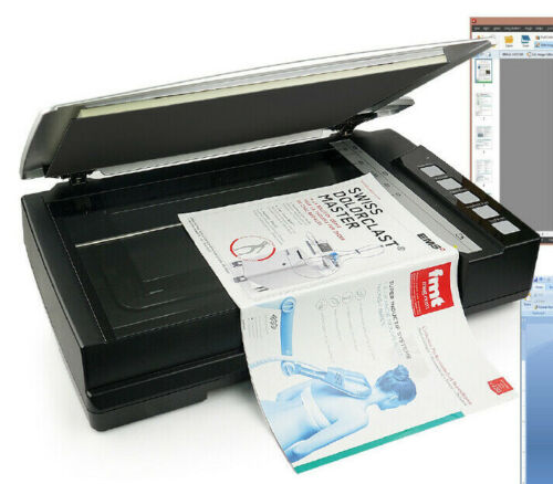 $$$ Plustek 600dpi OpticBook A300 Plus Flatbed Bookedge Fast Scanner $$$