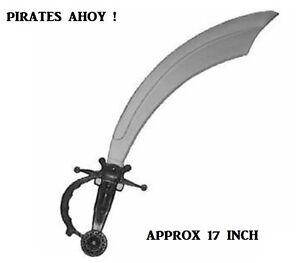 BOYS GIRLS FANCY DRESS PIRATE COSTUME CUTLASS SWORD GREY BLADE SWORD BA149