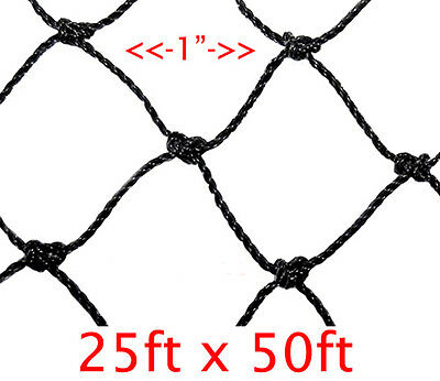 1 Mesh Hole 25ft X 50ft Anti Bird Baseball Poultry Soccer Game Fish Netting752