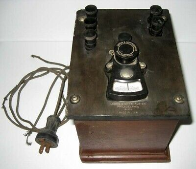 Leeds Northrup Philadelphia - 181203 Antique Voltmeter With Ac Power Cord