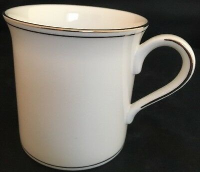 Lenox Federal Platinum Mug Cup 12oz Classics Collection Fine Bone China New Bone China Platinum Mug