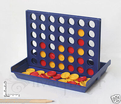 Match4 Game   Connect Four Checkers To Win   Portable Travel Size Family Fun Toy