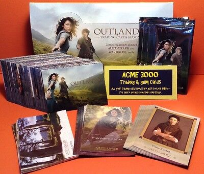 Cryptozoic Outlander Season 1 Base Set, 3 Chase Sets, Box & 3x Packs - 99 Cards