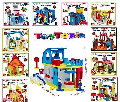 12 x Wholesale Joblot 3D-Softkit Kids Toys Games Creative Activity Car Police Tr