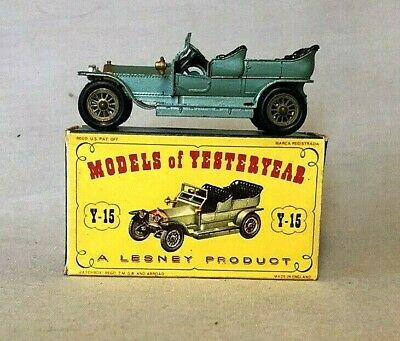 MATCHBOX LESNEY Models of Yesteryear ~Y-15  Rolls-Royce Silver Ghost ~ w/Org.Box