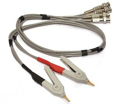 Lcr Meter Cable Lead Kelvin Clip To Bnc X 4 For Hp Agilent