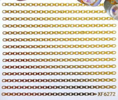 Chain Geometric figure Graphics Shapes Circle Square 3D Nail Art Sticker 6272 Sticker Art Shapes