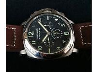 Very Rare Panerai Luminor PAM 074 Chronograph+Date in Titanium. OPIV El Primero 400 movement