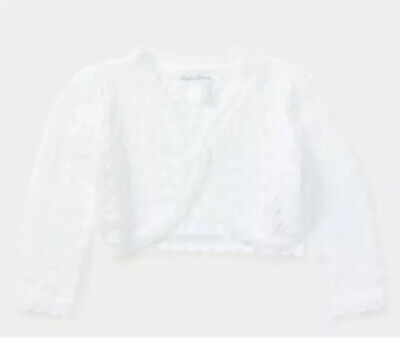 NWT New Ralph Lauren Polo Baby Girls White Christmas Holiday Sweater 12M $39.50