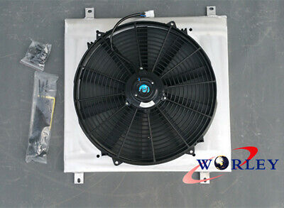 Aluminum Radiator Shroud + Fan for TOYOTA HILUX LN85 LN60 LN61 LN65 2.4L 84-91
