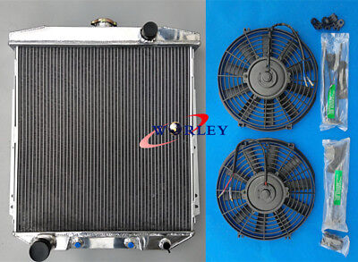 3ROW FORD FAIRLANE CAR SEDAN WAGON MAINLINE 54 55 56 ALUMINUM RADIATOR +2*FANS