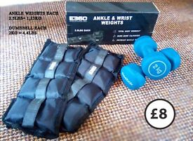 ankle wrist weights and dumbbells work out at home comfy at your pace