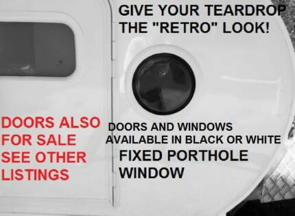 ROUND WINDOW PORTHOLE RETRO LOOK TEARDROP CAMPER BLACK OR WHITE  sc 1 st  Gumtree : caravan doors australia - pezcame.com