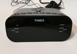 Timex Alarm Clock Radio AM FM Radio (model T231Y) 2 Alarms (large display) clock
