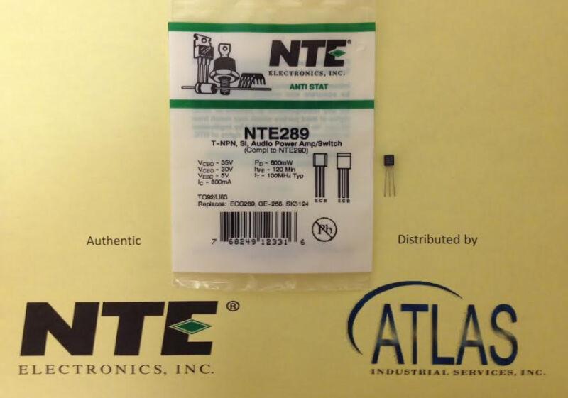 NTE NTE289 T-NPN, Si, Audio Power Amp/Switch