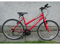 Ladies Free Spirit Firenze red bike 18 inch frame 26 inch wheels 10 gears