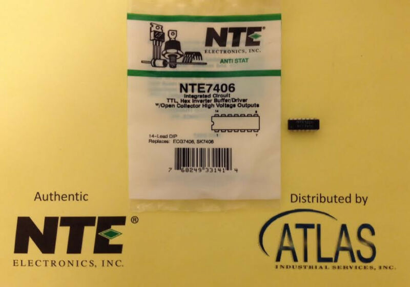 NTE NTE7406 IC, TTL, Hex Inverter Buffer/Driver