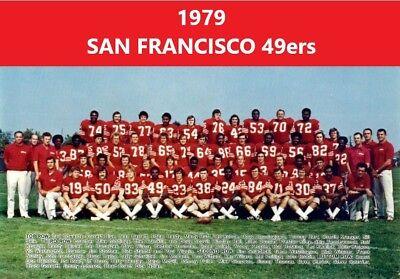 1979 SAN FRANCISCO 49ers 8X10 TEAM PHOTO FOOTBALL PICTURE NINERS NFL 8 San Francisco 49ers Football