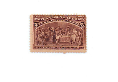 #234  5c  Columbia  Exposition Mint NH OG