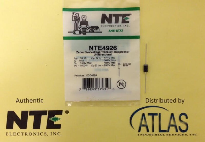 NTE NTE4926 Ovrvltg Transient Suppressor Unidirectional