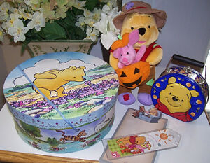 Set of 3 Winnie the Pooh Collectable Items + 2 Bonuses