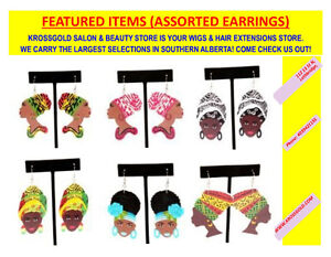 ASSORTED EARRINGS (AFRICAN PRIDES AND MUCH MORE)