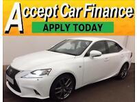 Lexus IS 300h 2.5 ( 181bhp ) E-CVT 2014MY F Sport FROM £77 PER WEEK!