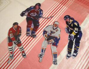 Ensemble de 4 joueurs de hockey aimantés souples