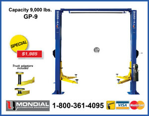 2 Post Car Lift Promotion - 9,000 lb Auto Hoist New Warranty