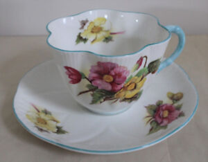 Shelley Cup and Saucer Fine Bone China England Floral