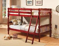 Pine Cherry Colour Bunk Bed