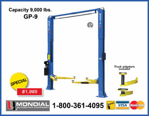 Car Lift GP-9 9000lbs 2 Post, Auto Hoist, 2 Post Lift & WARRANTY