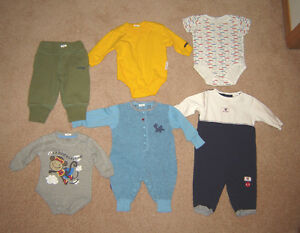 Boys Clothes, Sleepers, Winter Set - 6, 6-12, 12, 12-18 months