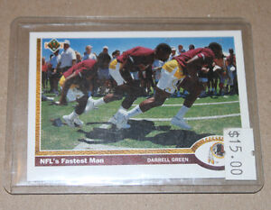 Upper Deck NFL football Fastest Man Strathcona County Edmonton Area image 1