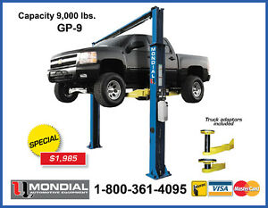 GP-9 Car Lift 9000lbs 2 Post, Auto Hoist, 2 Post Lift WARRANTY