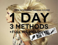 HAIR EXTENSION TRAINING COURSE! ENROLL NOW!