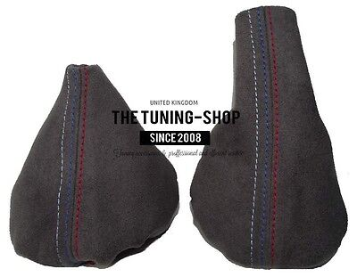 For Bmw 3 Series E36 E46 Shift & E brake Boot Anthracite Suede M3 /// Stitching