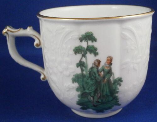 Rare Meissen Porcelain Saxon Royal Court Green Watteau Service Cup Porzellan #2