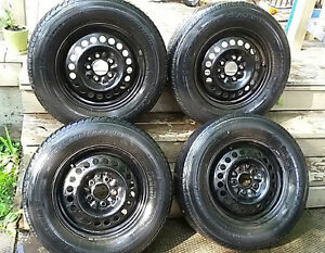215-70-15 set of tires with rims 5×114.3 bolt pattern