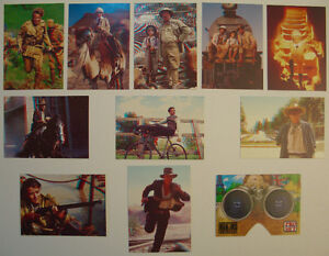 YOUNG INDIANA JONES CHRONICLES SET OF 11 3D INSERT CARDS +VIEWER