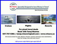 RC TOURS - Air tickets, cruises & vacation packages