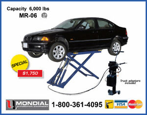 MONDIAL MR-06 PORTABLE MID RISE SCISSOR Lift 6,000lb CAR LIFT