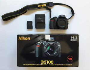 Nikon D3100 14.2MP DSLR Camera [GREAT condition]