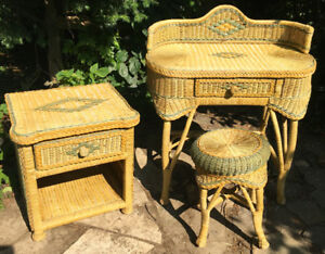RATTAN / WICKER FURNITURE SET - REDUCED!