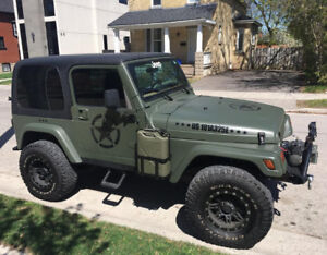 Hard top for a TJ  Jeep Wrangler