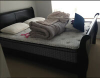Twin Mattress, box spring and bed frame Set