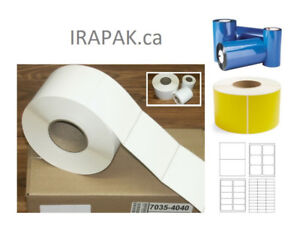 Thermal Labels and Ribbons, Barcodes, Laser and Inkjet Sheet