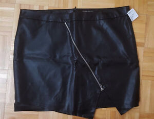 Forever21 Plus size asymmetrical leather skirt