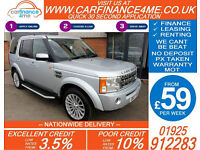 2007 LAND ROVER DISCOVERY 2.7 TDV6 XS GOOD / BAD CREDIT CAR FINANCE FROM 59 P/WK